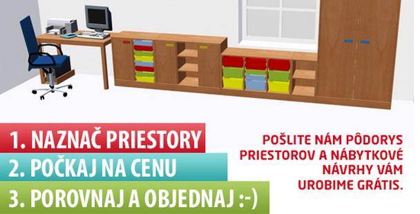 Návrh nábytku pre školy
