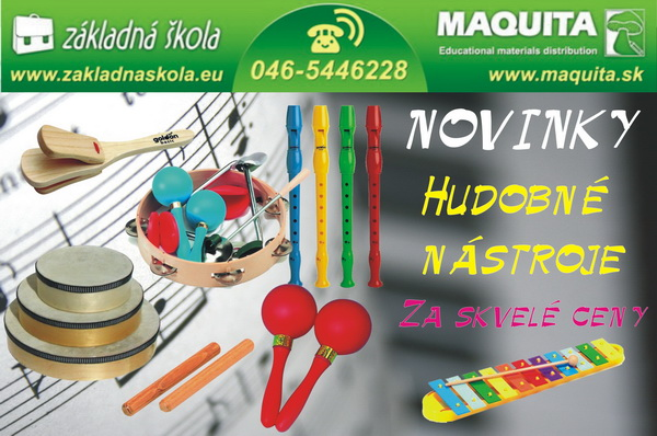 Hudobné nástroje už aj na www.zakladnaskola.eu!