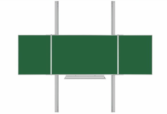 Školská tabuľa Triptych K na hliníkovom stojane