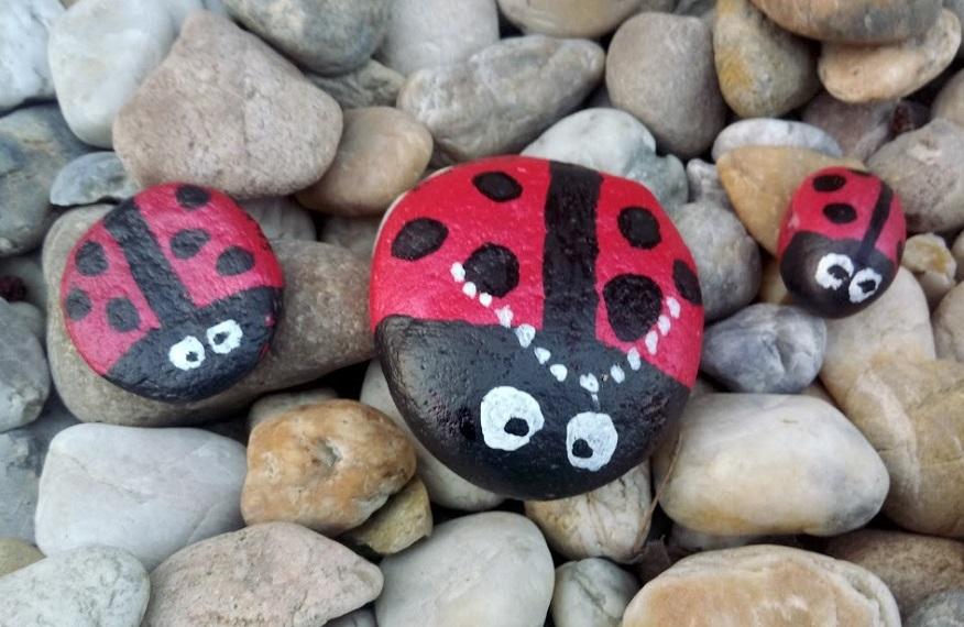 Fotonávod Lienka - maľovanie na kamene