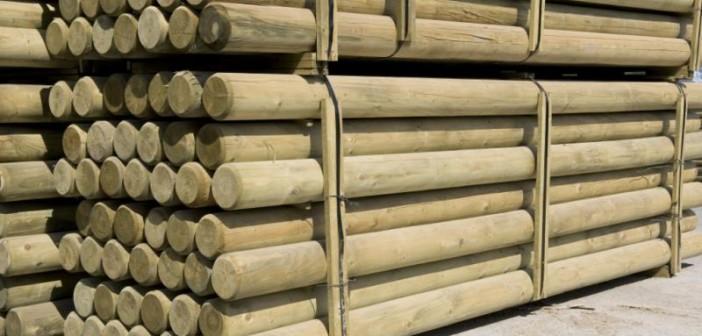 Impregnované drevené palisády