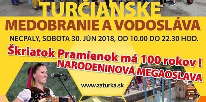 Turčianske medobranie a vodosláva, 2018 Necpaly