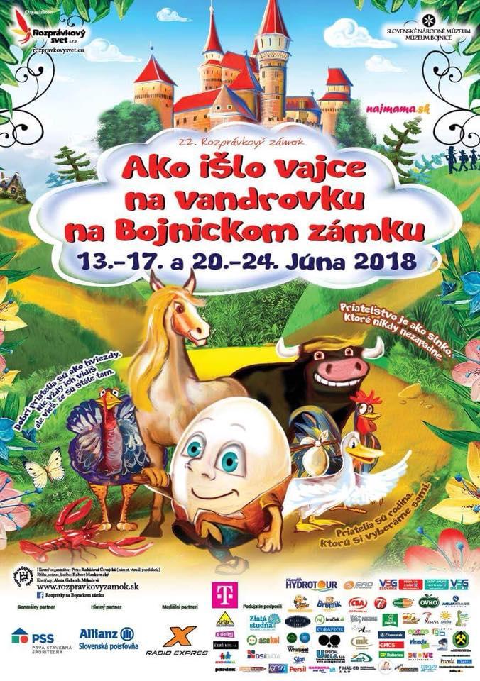 Ako išlo vajce na vandrovku, na Bojnickom zámku 2018
