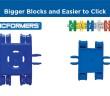 Clicformers je nástupca známej belgickej stavebnice CLICKS