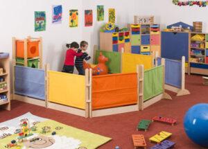 Interierové paravány pre materské školy