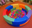 Okrúhly suchý bazén v materskej škole