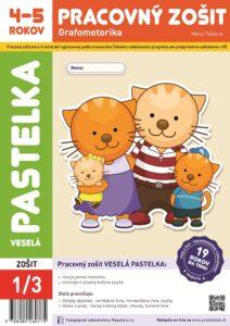 Pracovný zošit Veselá pastelka, grafomotorika pre 4-5 ročné deti