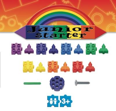 Stavebnica Morphun druhy kociek v sérii Starter Rainbow