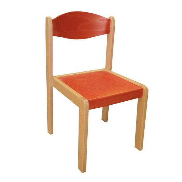 Stohovateľná stolička EMA MQT-EMA-0261 červená