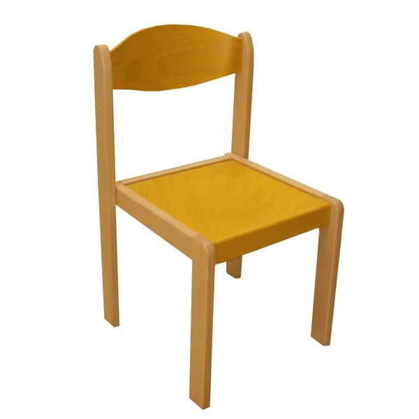 Stohovateľná stolička EMA MQT-EMA-0266 žltá
