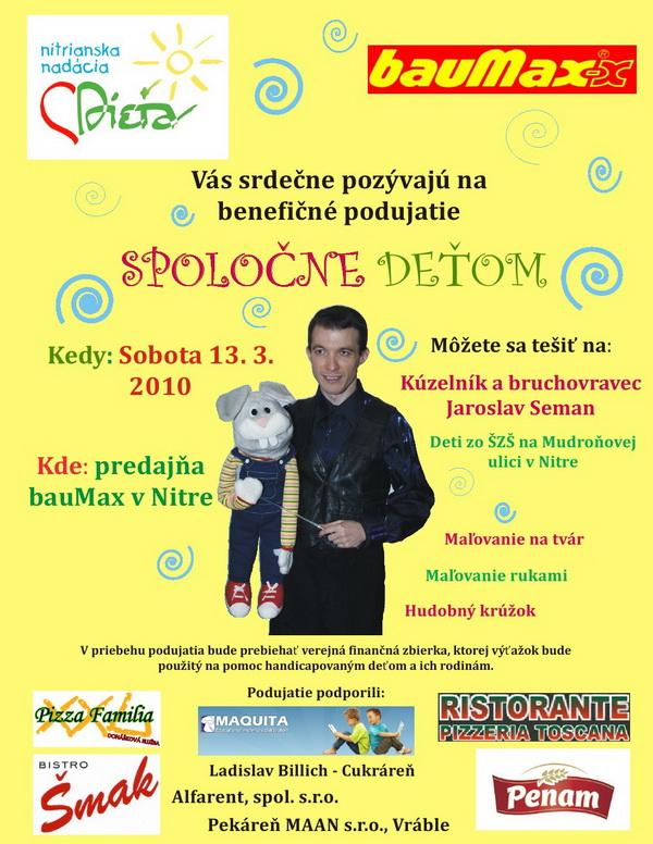 Pozvánka na Spoločne deťom, Nitra 2010