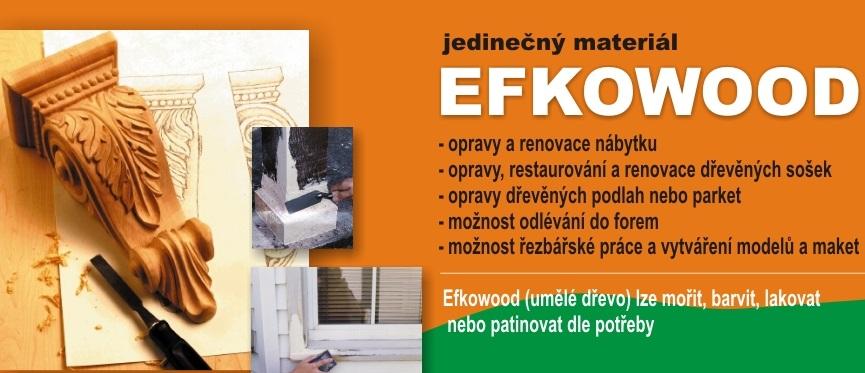 Efkowood polyesterová rezbárska drevitá hmota