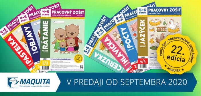22. Edícia pracovných zošitov pre materské školy 2020 2021