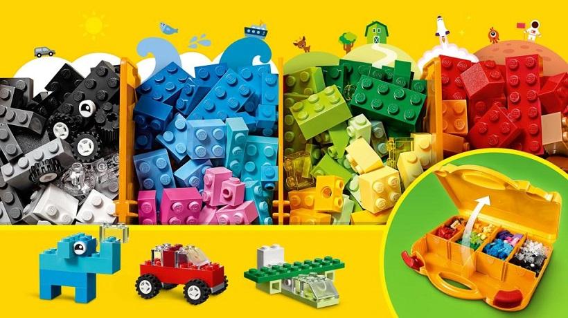 Lego Classic 10713 Praktický kreatívny kufrík, 213 ks