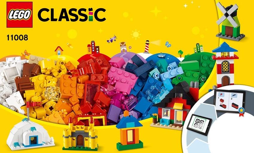 Lego Classic 11008 Kocky a domčeky, 270 ks