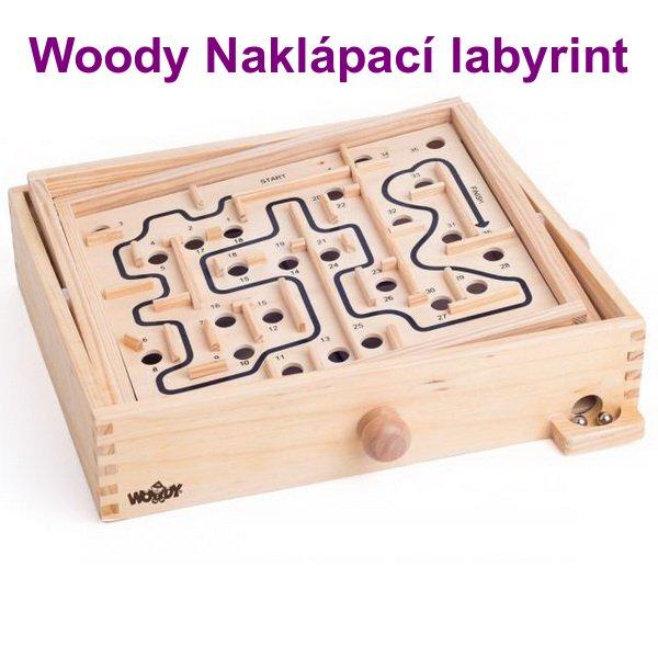 Woody Naklápací labyrint s vymeniteľnými doskami