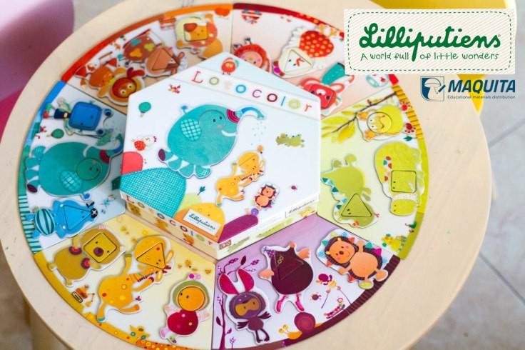 Lilliputiens didaktické puzzle LOTOCOLOR