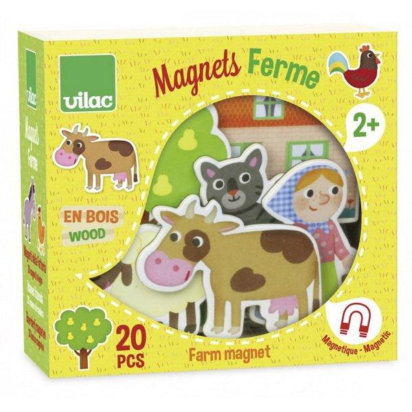 Vilac edukačné magnetky Farma, 20 ks