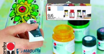 Farby na sklo Marabu Glas, základný Farbenset