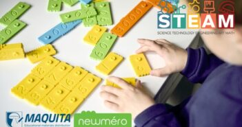 newmero Vzdelávacia hračka, zložená z dvojfarebných plastových dielikov