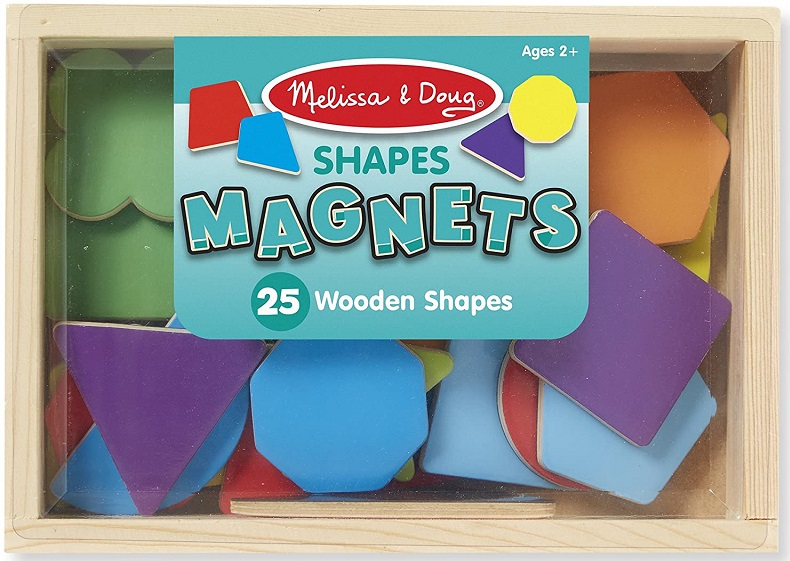 Melissa & Doug - Drevené magnetické Tvary, 25 ks