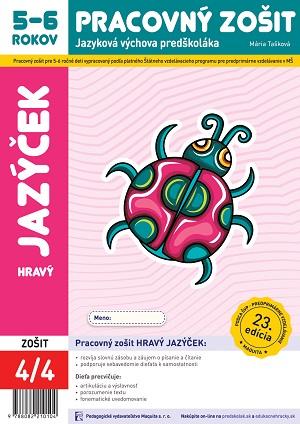 Hravý jazýček pracovný zošit 5-6 ročné deti 4/4
