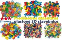 Predškolské didaktické plastové 3D stavebnice