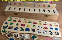 Montessori triediaci box na priradzovanie obrázkov