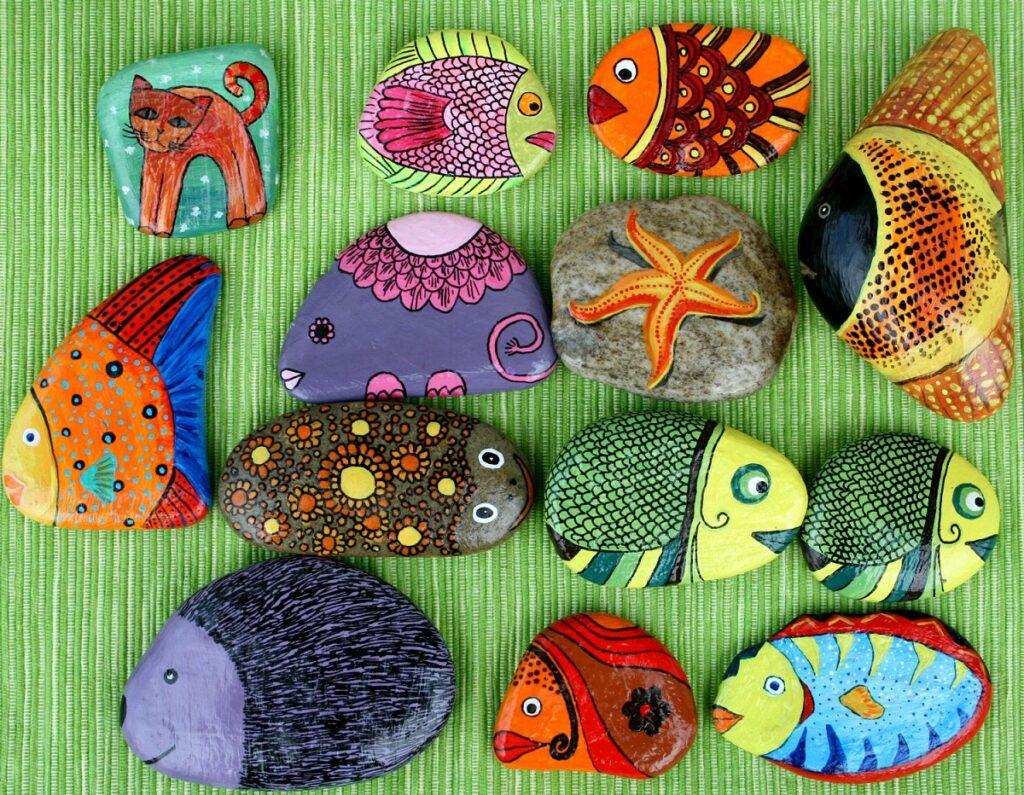 Maľovanie na kamene - inšpirácie pre deti