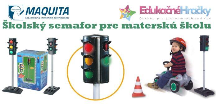 Signalizačný semafór pre dopravné ihrisko každej školy