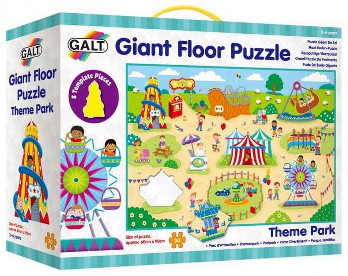 Veľké podlahové puzzle Zábavný park, 60x90 cm