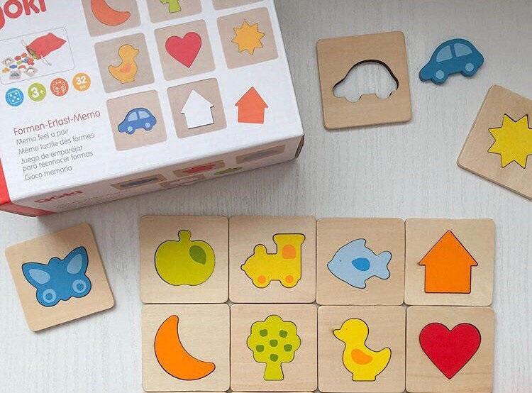 Goki Hmatová hra - Poznaj tvar v rámčeku, 32 dielov