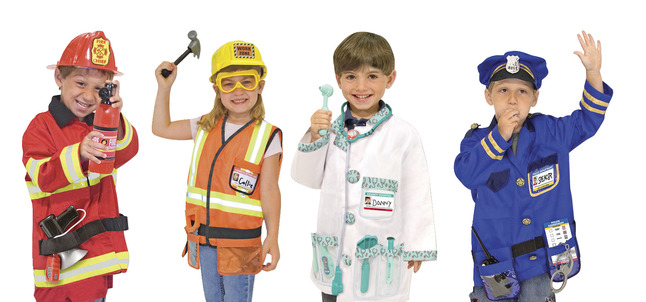 Kostýmy profesie a povolania pre deti a materské školy